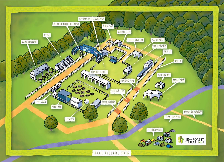 Race Village Map 2016